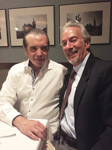 BiVi Sicilian Vodka's spokesperson, Chazz Palminteri, with Hartley and Parker, Limited Inc.'s President, Jerry Rosenberg.