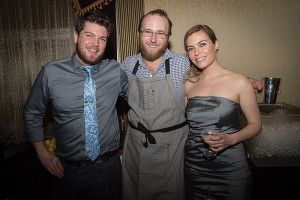 Joseph Haggard, bar manager of The Grange, Andrew Volk, Rising Star Bartender of Portland, Maine's Hunt & Alpine Club and Stefanie Melchert, Northeast Regional Manager, Lucas Bols USA. Photo by Chris Almeida.