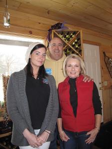 Caitlin, Jack and Maureen Leyden