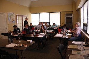 Members of the Winebow sales team during the Kermit Lynch Wines presentation.