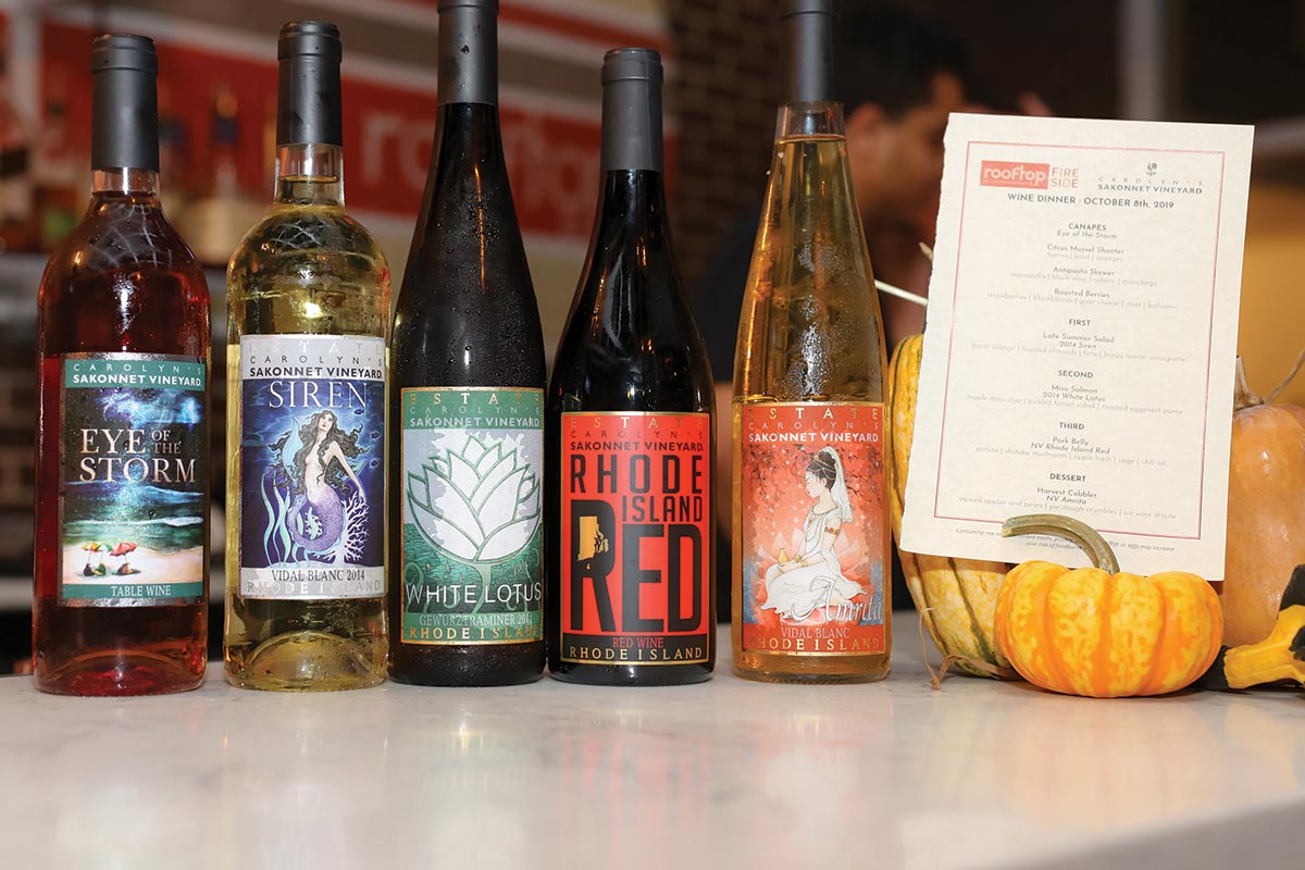 Carolyn's Sakonnet Vineyard Wines Paired in Providence
