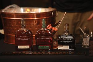 Woodford Reserve Kentucky Straight Bourbon Whiskey, Woodford Reserve Kentucky Straight Rye Whiskey and Woodford Reserve Double Oaked.