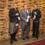 Simon Brooking, Brand Ambassador, Laphroaig; Steve Drew, Business Manager, CDI; Laphroaig Distillery Manager John Campbell.