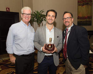 John Ryan, Market Manager, Remy Cointreau USA; Philippe Vasilescu, Remy Martin's Louis XIII Cognac Brand Ambassador; and Frank Martucci, General Manager of Beverage Operations for Twin River Casino.
