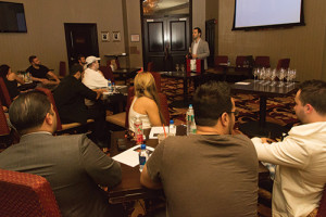 Trade guests during the educational session at Town River Casino.