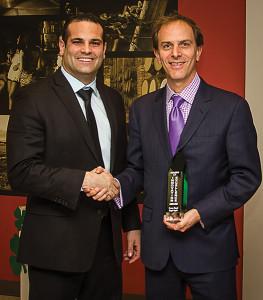 Domenick Italiano, Distributor Manager-CT, Diageo and Brian Albenze, President, CDI.