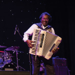 Stanley Dural, Jr., famed New Orleans accordionist and zydeco musician, who performs under the name Buckwheat Zydeco.