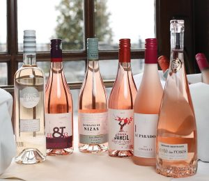 A variety of French rosés available at MS Walker's spring tasting.
