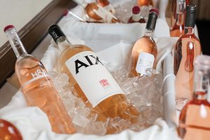 A variety of French rosés on ice including Hecht & Bannier, Aix and Domaines Ott By.Ott.