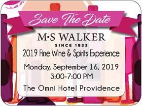 September 16, 2019: MS Walker Fall Wine & Spirits Show