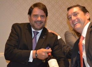 Augusto Gabriel, Territory Manager, Winbow/MundoVino; Nate Sayer, Fine Wine Sales Manager, MS Walker
