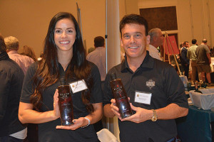 Chelsey Walton, Sales Representative, Black Infusions and Michael Davidson, CEO, Black Fig Vodka.