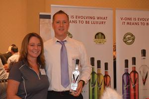 Karie Morehouse, Sales and Paul Kozub, President, V-One Vodka.