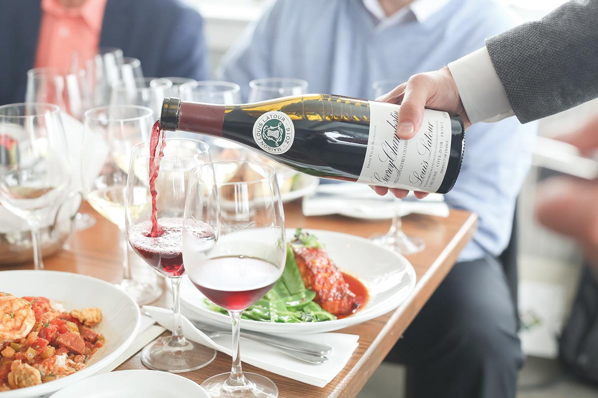 Maison Louis Latour Owner Welcomed for Pairing Luncheon