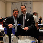Bill Dessel, Co-founder, Keel Vodka and Brett Allen, General Manager, M.S. Walker of Rhode Island.