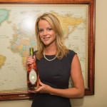 Jillian Boone, New England Regional Manager, A. Hardy USA with Elation Nectar de Poire.