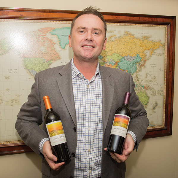 Matthew Shakespeare, Area Wine Manager, Don Sebastiani & Sons with Paso Project wines.