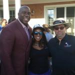Retired professional basketball star Magic Johnson; Sasha Williams, Entrepreneur; and Bruno Ceniccola.