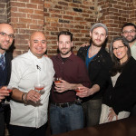 Matteo Meletti, Proprietor/Owner, Meletti 1870; Alberto E Lopez Lara, Executive Chef, The Dorrance; Vito Lantz, Beverage Program Manager, The Dorrance; Greg Mayer, Bartender, The Dorrance; Sophie Daniels, New England Regional Manager, Opici Wines; Gabriel Rodriguez, Origin Beverage; Tyler Schweppe, Bartender, The Dorrance.
