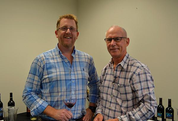 John Noakes, Val's Putnam Wine & Liquor; and Phil Sandifer, Wine Representative, Metrowine.