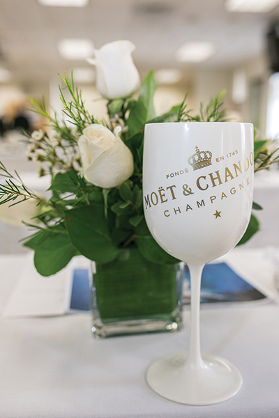 "Moët Ice Impérial is true to the Moët & Chandon style yet distinguished by ""its bright fruitiness, its seductive palate and its elegant maturity."" Sales team members were presented with a guided tasting during the brand education session."
