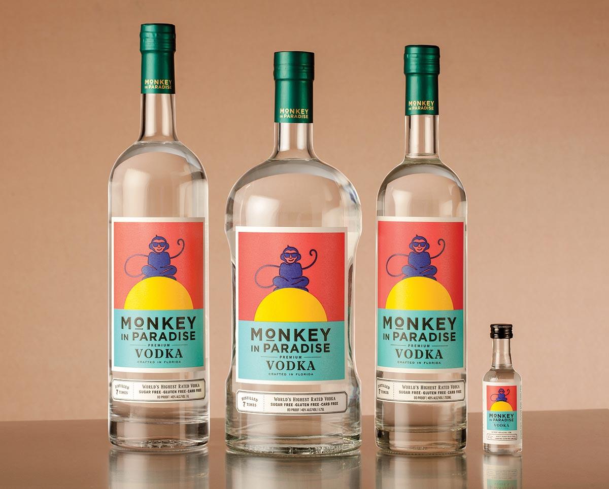Monkey in Paradise Premium Vodka Joins Monsieur Touton