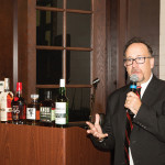 Frank Martucci, General Manager of Beverage Operations, Twin River Casino at the opening night dinner.