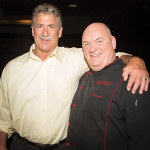 "Fred Smerlas, Owner Fred & Steve's Steak House and Bobby ""G"" Gleason, National Master Mixologist, Beam Suntory, hosting the six-course festival opening night dinner at Fred & Steve's Steakhouse on September 30, 2015."