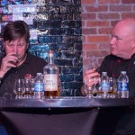 Brett Little, Mad River Distillers and Bobby Gleason, Educator and National Master Mixologist, Beam Suntory, during a whiskey panel discussion.
