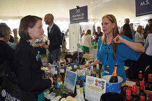 Elizabeth Gard, Johnson & Wales University and Amanda Leondro, Tasting Representative, M.S. Walker.