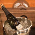 Guests were welcomed into the event with a glass of Newport Vineyards Sparkling Brut.