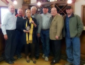 Shown left to right: Michael Bartlett, NEWS National Sales Manager; David Phillips, co-owner of Michael David Winery; Betty and Tony Gallo, Owners of New England Wine & Spirits; Michael Phillips, co-owner, Michael David Winery; Michael O'Hara, President at New England Wine & Spirits; Kevin Phillips, Vineyard Manager, Michael David Winery.