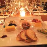 Milk & Honey cheese platters sampling with Newport Vineyards wines in the background.