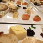 Selections of pairings and cheeses.