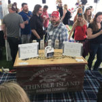 Dave Morgan, Lead Sales Representative, served Thimble Island Brewing Company's Session 45 IPA, Windjammer Wheat, Ghost Island Double IPA and American Ale.
