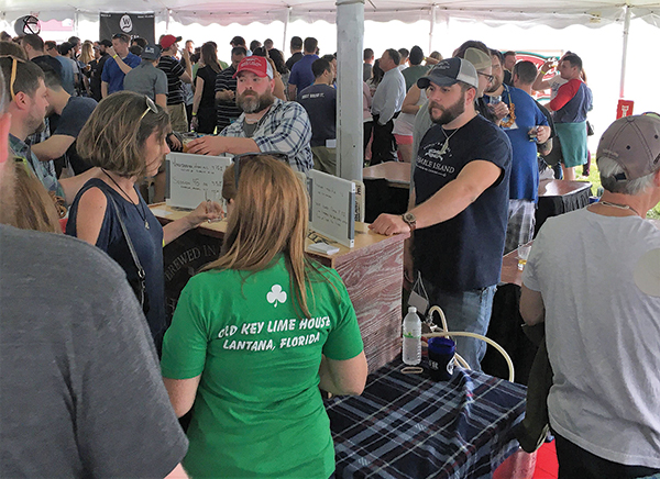 Thimble Island Brewing Company's Dave Morgan, Lead Sales Representative and Dan Cole, Production Manager, met with guests at the Newport Craft Beer Festival on April 28.