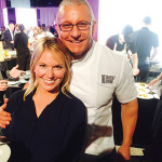 Nicole Frechette, Vine Ventures, LLC with Chef Robert Irvine.