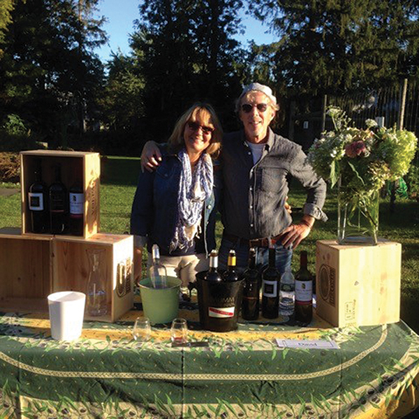 Aventine Hill Sales Director, David Squires poured portfolio selections with help from Arlene Scanlan at Fodor Farms in Norwalk.