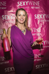 Heather Delphin, founder and president of SEXY Wines US, at Sun WineFest 2014.