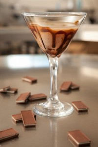 Ocean Vodka Chocolate Martini 1½ oz Ocean Vodka ½ oz Godiva Chocolate Liqueur ½ oz Godiva White Chocolate Liqueur Place all ingredients into a shaker with ice. Shake well and pour into a chilled, chocolate-rimmed martini glass.