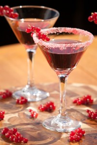 Ocean Vodka Holiday Berry Cosmo 1½ oz Ocean Vodka ½ oz Chambord Raspberry Liqueur 6 Raspberries 20 Red Currants ½ oz Simple Syrup Macerate raspberries and red currants in Chambord Raspberry Liqueur. Place berry mixture into a shaker and add simple syrup, bruise ingredients in a shaker. Add Ocean Vodka and ice, shake vigorously. Strain into a martini glass.