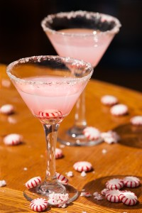 Ocean Vodka White Christmas 2 oz Ocean Vodka 1 oz Godiva White Chocolate Liqueur 1 Drop Peppermint Extract Place all ingredients into a shaker with ice. Shake vigorously. Pour into a martini glass rimmed with crushed candy cane.