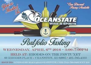 Oceanstate Portfolio Tasting 2016 invite
