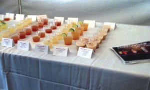 Pre-mixed cocktails featured select spirit brands.