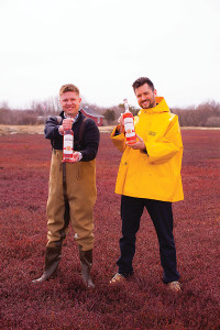 Onyx Spirits Company co-founder Adam von Gootkin and Pete Kowalczyk in the bogs.
