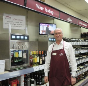 Owner Paul Moeller at the Napa Technology tasting station.