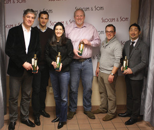 "Arnaud Brachet, President of Pavan Liqueur de France; Area Manager, Pavan Liqueur de France; Wendy Eber, President, Slocum & Sons; John Slocum, Executive Vice President and General Manager, Slocum & Sons; Alex Meier-Tomkins, Spirits Manager, Slocum & Sons; and Toshi ""TJ"" Kumakura, Chief Executive Officer of Suntory USA Inc. and Pavan's importer."