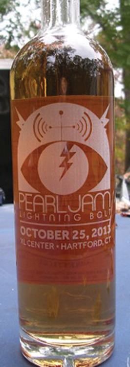 Pearl Jam Greeted With Onyx Moonshine Custom Bottle