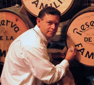 Phillip Soto Mares in his tequila cellar
