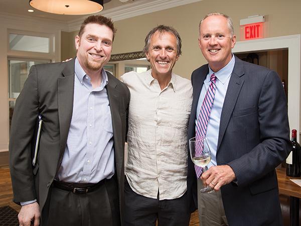 Aaron Augspurg, Trinchero Family Estates, VP Empire Division; Winemaker Joel Gott; and John Parke, President, CDI.